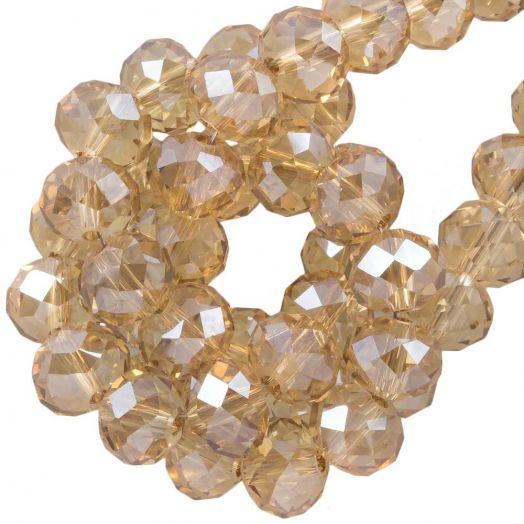 Facetperlen Rondell (8 x 6 mm) Sepia (72 Stück)