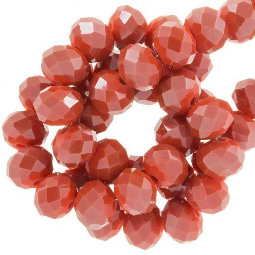 Facetperlen Rondell (8 x 6 mm) Blush Red (72 Stück)