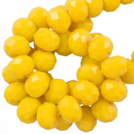 Facetperlen Rondell (8 x 6 mm) Mustard Yellow (72 Stück)