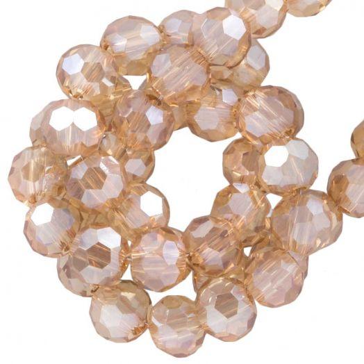 Facetperlen Rund (4 mm) Sepia (98 Stück)
