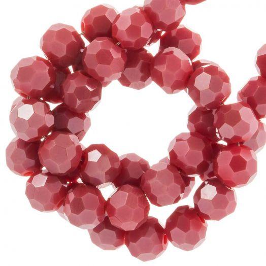 Facetperlen Rund (4 mm) Sangria Red (98 Stück)