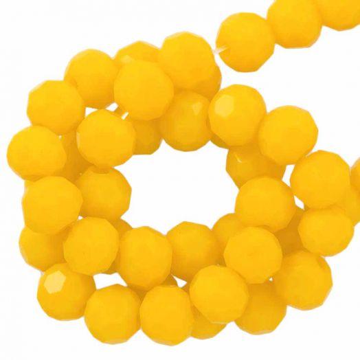 Facetperlen Rund (6 mm) Mustard Yellow (100 Stück)