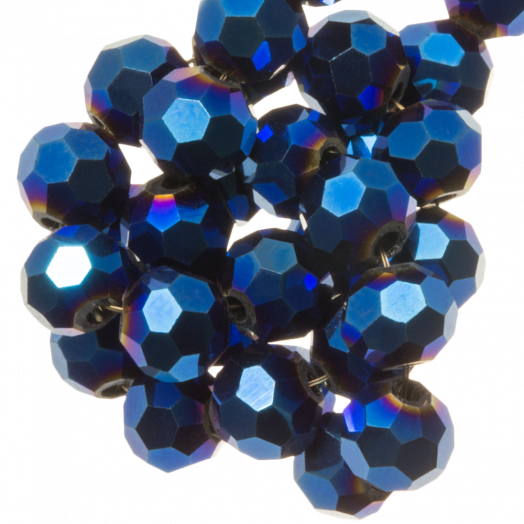 Facetperlen Rund (8 mm) Blue Shine (72 Stück)
