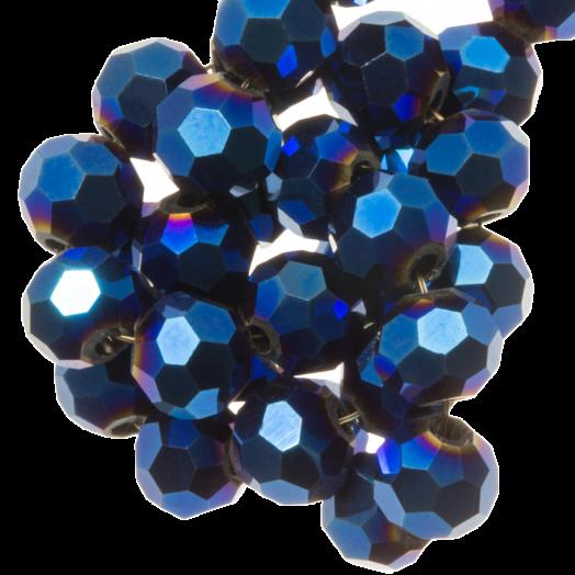 Facetperlen Rund (4 mm) Blue Shine (98 Stück)
