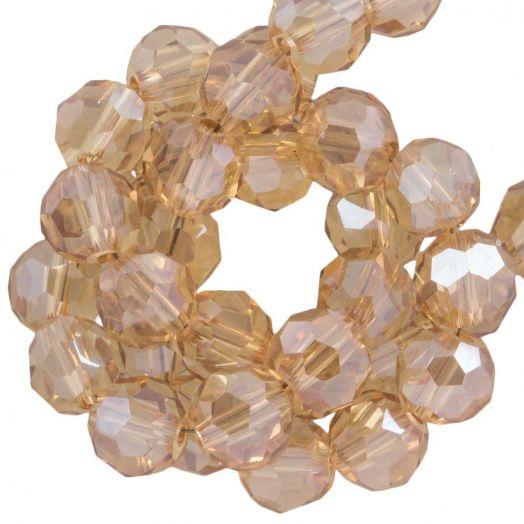 Facetperlen Rund (6 mm) Sepia (100 Stück)