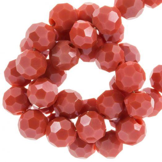 Facetperlen Rund (6 mm) Blush Red (100 Stück)
