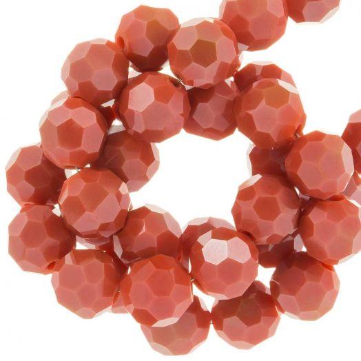 Facetperlen Rund (8 mm) Blush Red (72 Stück)