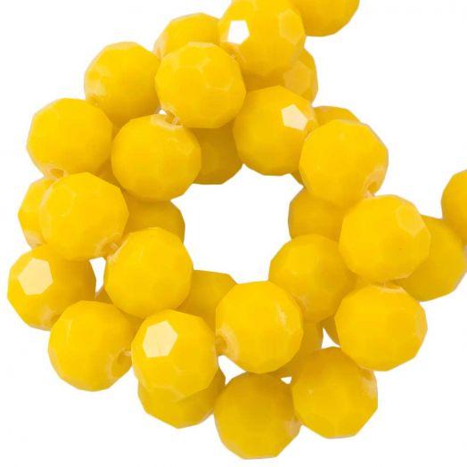 Facetperlen Rund (8 mm) Mustard Yellow (72 Stück)