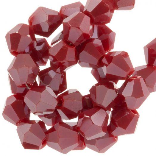 Facetperlen Bicone (6 mm) Sangria Red (50 Stück)
