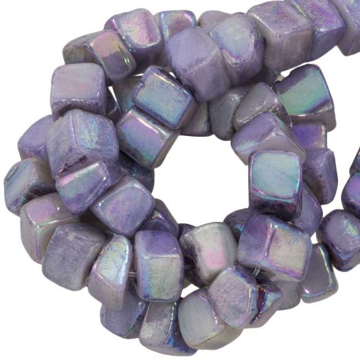 Süßwasserperlen - Muschelperlen (6 - 7 mm) Electroplate Lilac (76 Stück)