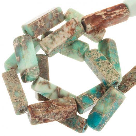 Regalite Perlen (13.5 - 14 x 4 - 4.5 x 4 - 4.5 mm) 28 Stück