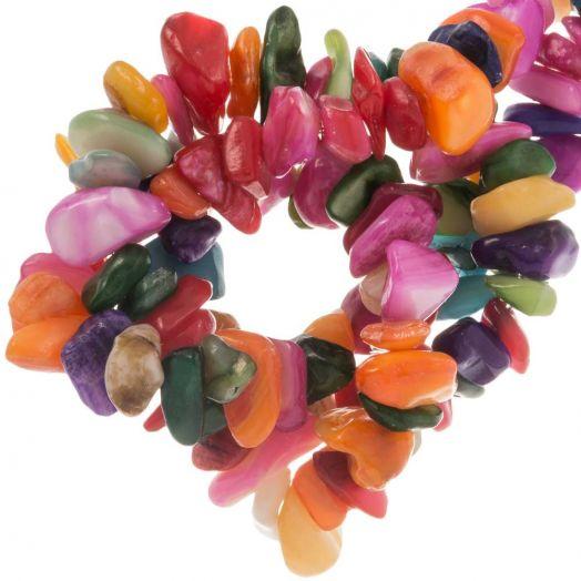 Muschelperlen (8 x 5 mm) Mix Color (220 Stück)