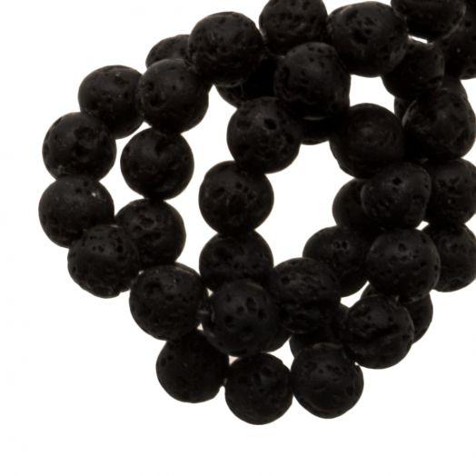 Lava Perlen (4 mm) Black (85 Stück)