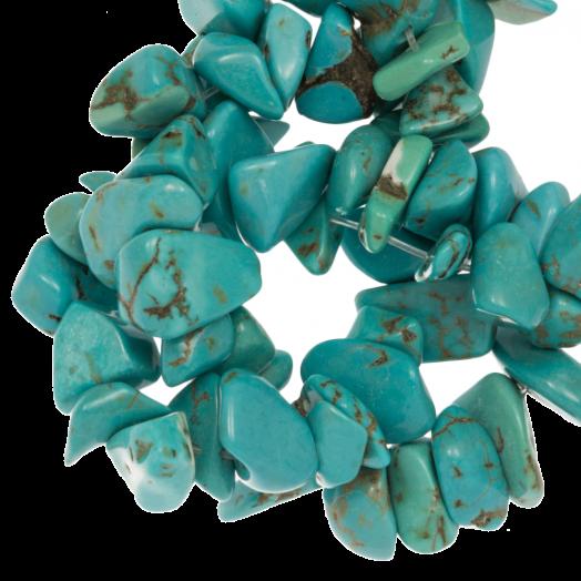 Naturstein Splitterperlen (3 - 5 mm) Turquoise (250 Stück)
