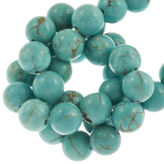 Sinkiang Turquoise Perlen (8 mm) 49 Stück