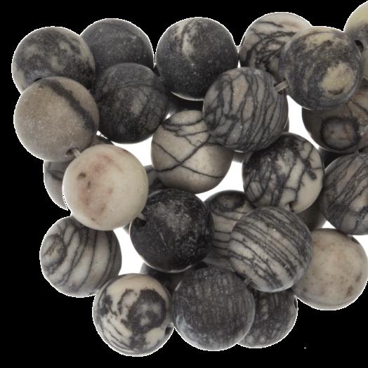 Netstone Frosted Perlen (4 mm) 92 Stück