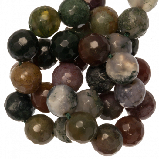 Indian Agate Facet Perlen (10 mm) 38 Stück