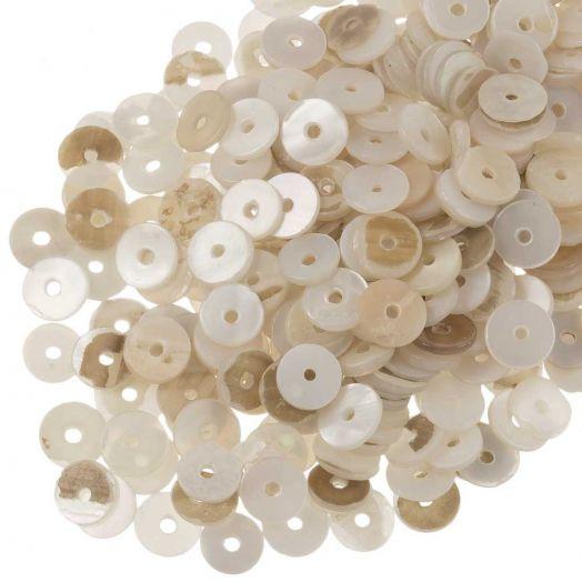 Muschelperlen (6 mm) Seashell (140 Stück)