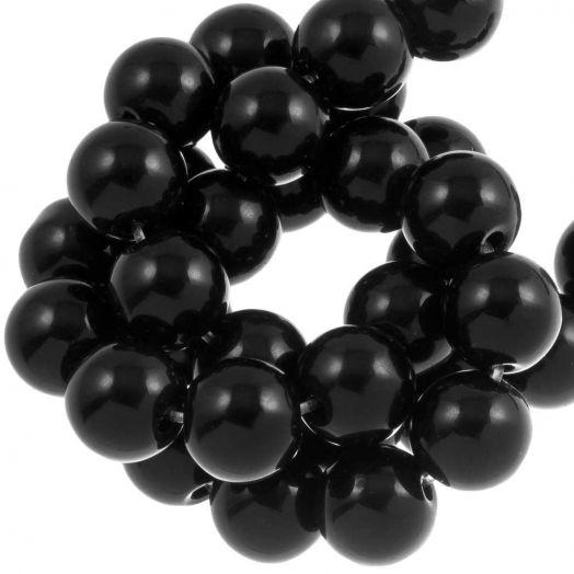 Black Stone Perlen (4 mm) 95 Stück