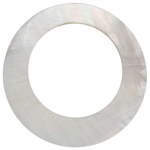 Muschel Anhänger (59 mm) White (2 Stück)