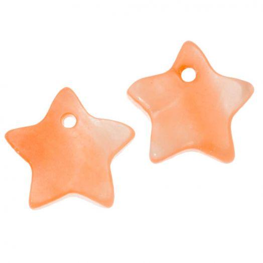 Muschel Charm (12 mm) Orange (15 Stück)