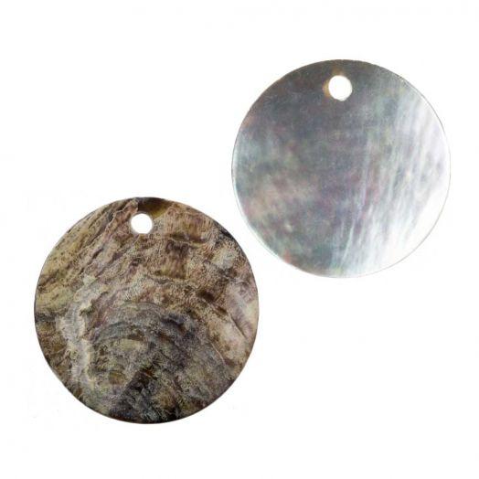 Charm Muschel (20 mm) Natural (25 Stück)