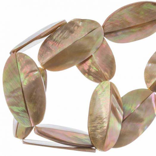Muschelperlen (31 x 17 mm) Brown Lip Shell (20 Stück)