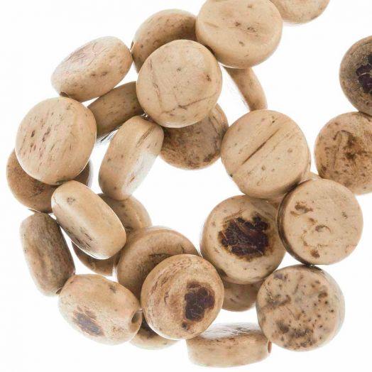 Kokos Perlen (10 x 4 mm) Natural (40 Stück)
