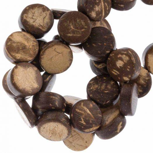 Kokos Perlen (10 x 4 mm) Natural Brown (40 Stück)