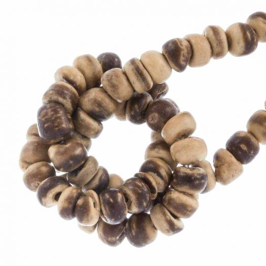 Kokos Perlen (2 -3mm) Tiger (110 Stück)