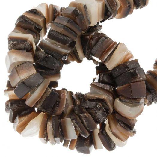 Muschelperlen (7 - 8 mm) Brown Lip Shell (180 Stück)