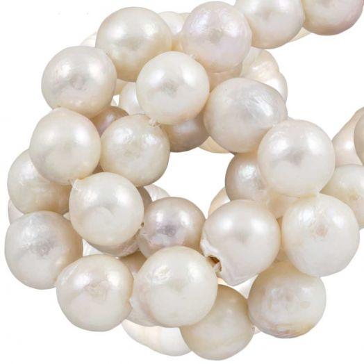 Keshi Perlen (10 - 12 mm) White (35 Stück)