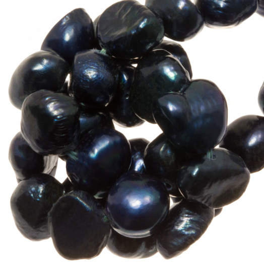 Süßwasserperlen (7 - 8 mm) Dark Blue (50 Stück)