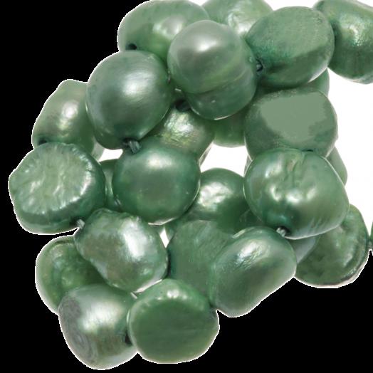 Süßwasserperlen (7 - 8 mm) Light Green (50 Stück)