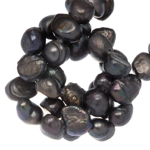 Süßwasserperlen (7 - 8 mm) Grey (50 Stück)