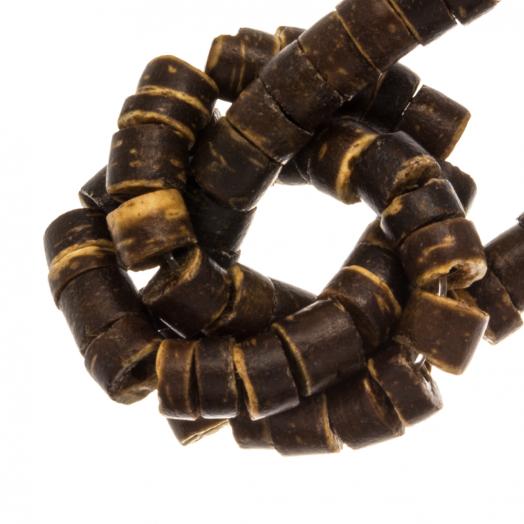 Kokos Perlen (4 - 5 mm) Natural Brown (120 Stück)