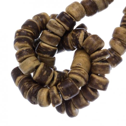 Kokos Perlen (4 - 5 mm) Tiger (110 Stück)