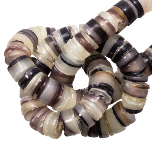 Muschelperlen (2 - 3 mm) Hammer Shell (150 Stück)