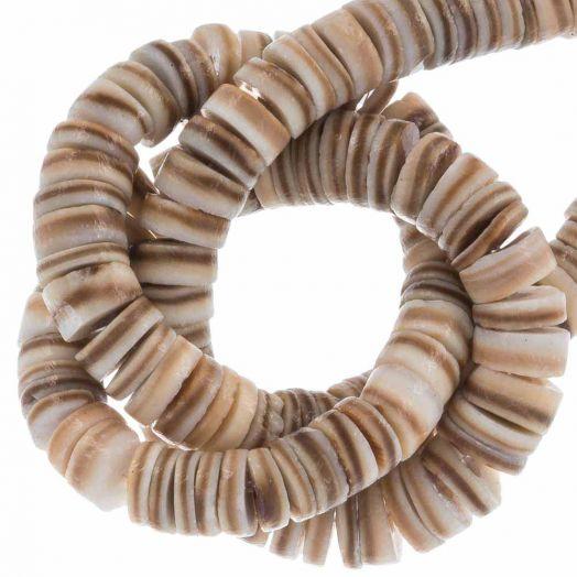 Muschelperlen (4 - 5 mm) Natural Brown Shell (165 stück)