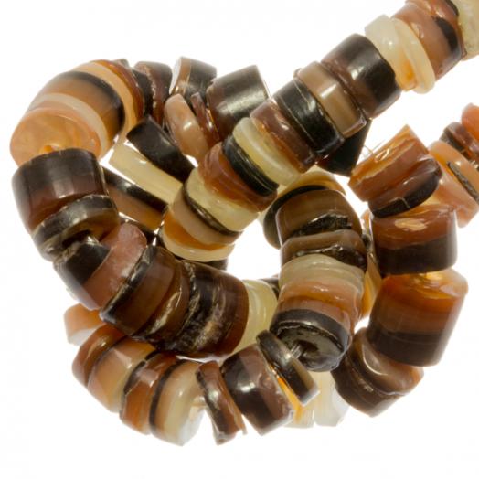 Muschelperlen (2 - 3 mm) Brown Lip Shell (150 Stück)