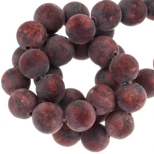 Labradorite Perlen (8 mm) Crimson (50 Stück)