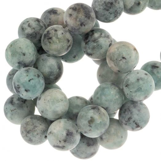 Labradorite Perlen (8 mm) Aquamarine (50 Stück)