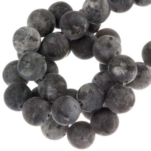 Labradorite Perlen (8 mm) Black (50 Stück)