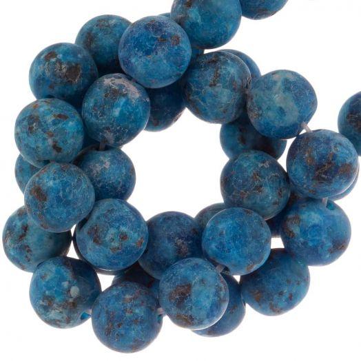 Labradorite Perlen (8 mm) Dark Blue (50 Stück)