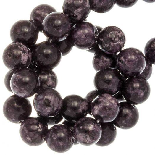 Labradorite Perlen (8 mm) Dark Grape (46 Stück)