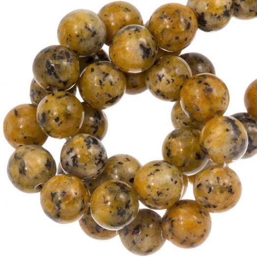 Labradorite Perlen (8 mm) Gold Brown (46 Stück)