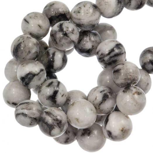 Labradorite Perlen (8 mm) White (46 Stück)