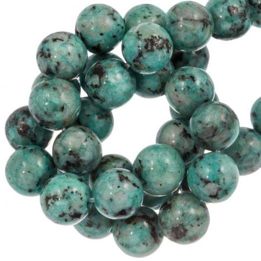 Labradorite Perlen (8 mm) Teal (46 Stück)