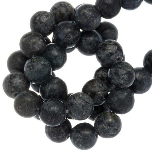 Labradorite Perlen (8 mm) Midnight Blue (46 Stück)