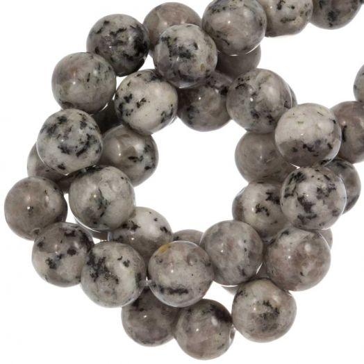 Labradorite Perlen (8 mm) Light Grey (46 Stück)
